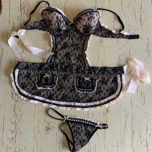 Victoria's Secret Size 34C Maids Bra Apron